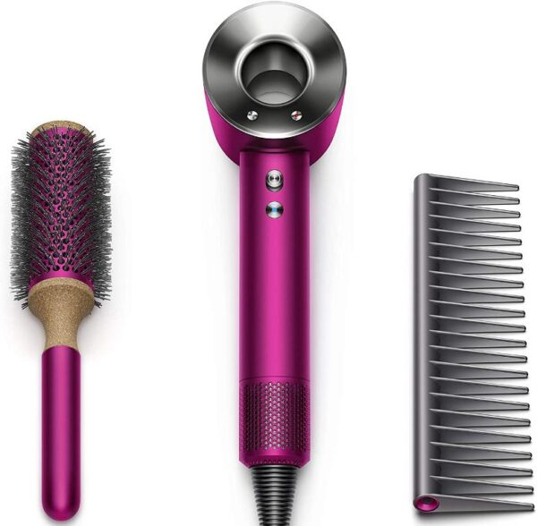 Dyson Supersonic Hair Dryer Limited Edition Gift Set, Fuchsia/Nickel