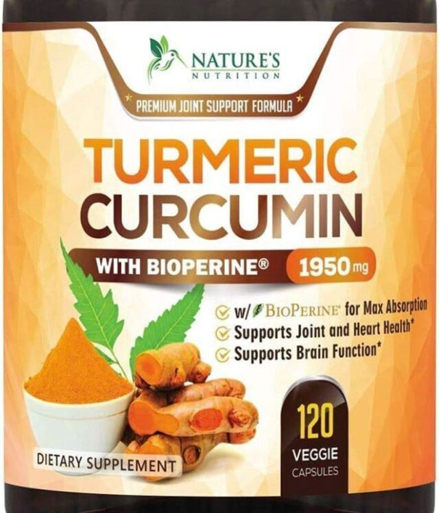 Turmeric Curcumin with BioPerine 95% Curcuminoids 1950mg with Black Pepper for Best Absorption, Made in USA, Natural Immune Support, Turmeric Supplement by...